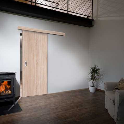 Posuvné dveře po zdi s mušlí